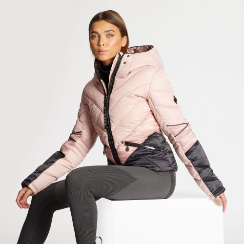 Dare 2B X Julien Macdonald - Women's Countess Waterproof Insulated Jacket Blush